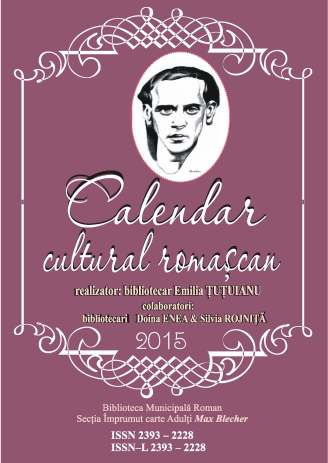 Calendar evenimente culturale 2015